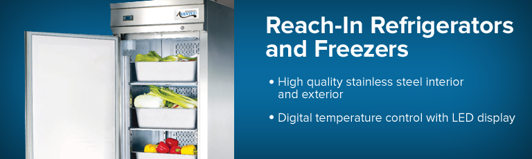 Reach-In Refrigerators / Freezers