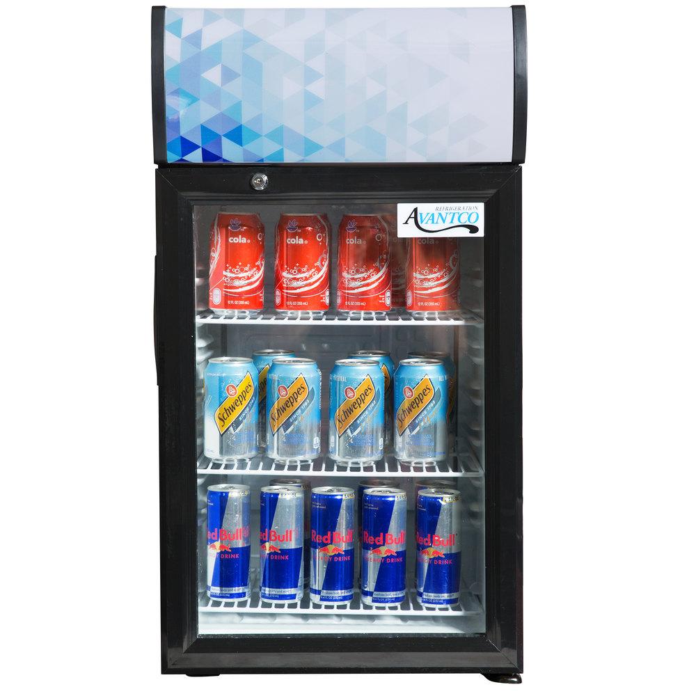 Countertop Glass Door Refrigerators And Freezers